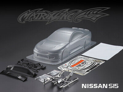 £30 • Buy 1/10 Scale RC Car Clear Body Shell - Nissan S15, 190mm - Matrixline - Unpainted