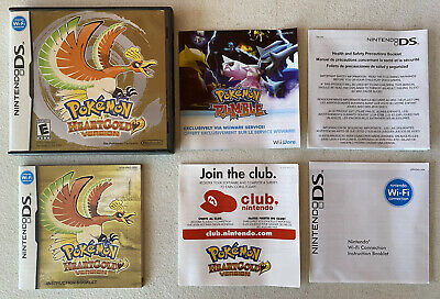 """$99.99 • Buy Authentic Pokemon HeartGold (No Game) NOT FOR RESALE Case With Manuals """"ONLY"""""""