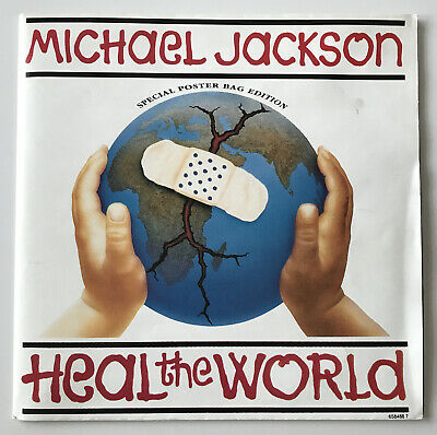 """£9.99 • Buy Michael Jackson Heal The World 7"""" Vinyl Single Special Poster Bag Edition 658488"""