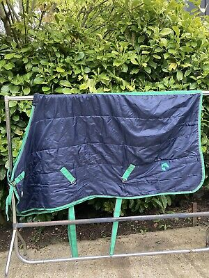 £23 • Buy 6'3 Ft Navy Green Light Weight Stable Horse Rug #6351