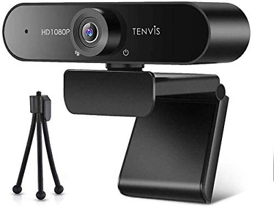 £39.88 • Buy TENVIS 1080P Webcam FULL HD Webcam With 120° Wide Angle, Streaming Camera With &