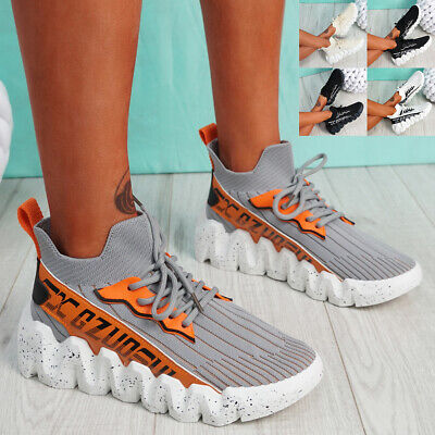 $ CDN29.41 • Buy Womens Chunky Trainers Knit Sneakers Ladies Sports Running Women Shoes Size