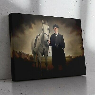 £24.99 • Buy PEAKY BLINDERS - Tommy Shelby With Grace's Secret Horse Painting Canvas Print