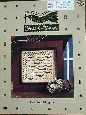 $12.05 • Buy COUNTING MAGPIES, Birds Of A Feather OOP Cross Stitch Chart