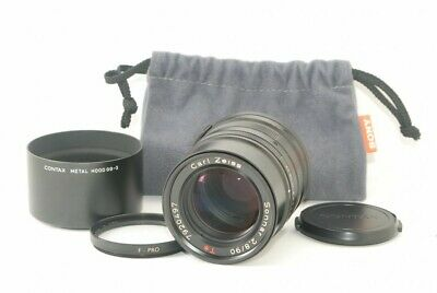 $ CDN563.96 • Buy Contax Carl Zeiss Sonnar T* 90mm F/2.8 Black For G1 G2 Mint!! From Japan 21587