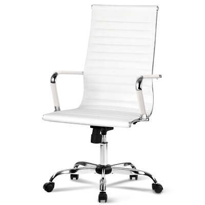 AU101.95 • Buy Artiss Gaming Office Chair Computer Desk Chairs Home Work Study White High Back