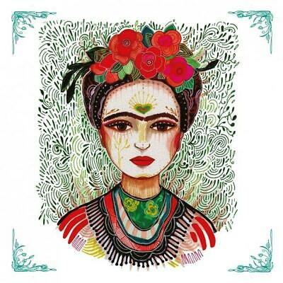 £5.49 • Buy Pack Of 20 Boho Frida Kahlo Cocktail Decoupage Napkins, Table Or Party