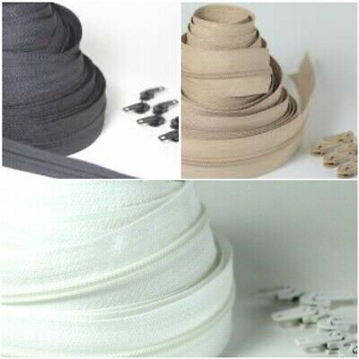 £1.97 • Buy No5 Upholstery 1,5,10 &25 Continuous Zip Cushion Zipping Three Different Colours