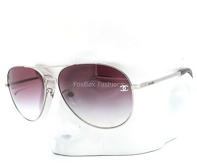 £187.62 • Buy Chanel 4189TQA 124/3P Aviator Sunglasses Silver / Pink Gradient Asian Fit W/case