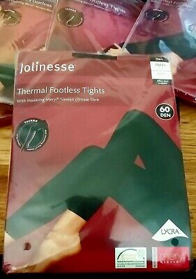 £3.99 • Buy Jolinesse Thermal Footless Tights In Black Size 18-20 - 60 Denier - BRAND NEW