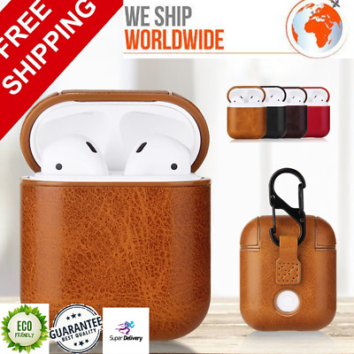 $ CDN12.53 • Buy For Apple AirPods Case Shockproof Genuine Leather Protective Cover For Airpods 2