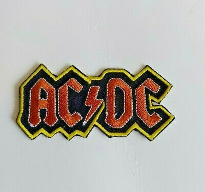 £2.50 • Buy AC/DC Rock Music Band Logo Iron On Sew On Badge Embroidered Patch