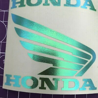 £8 • Buy Honda Wings Decals Holographic Green