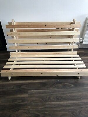 £70 • Buy Wooden Futon Sofa Bed Frame :- Double 4ft6 BASE ONLY. Used But Good Condition.