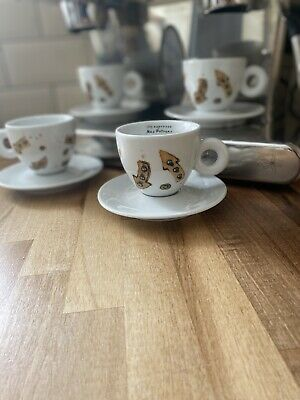 £75 • Buy NEW Limited Edition X4 Illy Coffee Cups (Cappuccino) - Max Petrone 'Arrows'