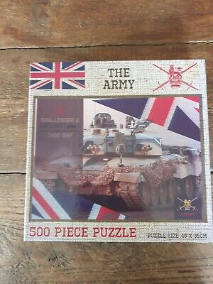 £7 • Buy THE ARMY 500 Piece Jigsaw Puzzle Featuring Challenger 2 Tank (british Army)