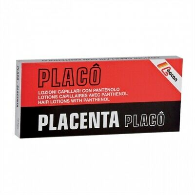 £19.65 • Buy PLACENTA PLACO Hair Lotion 12 Pcs X 10 Ml From Hair Loss To Weak & Brittle Hair
