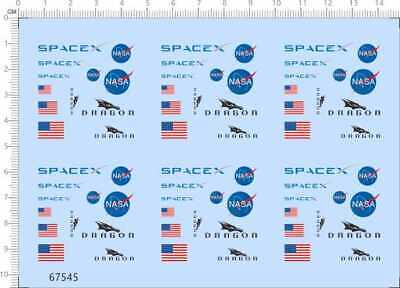 £4.99 • Buy Water Slide Decals 1/72 SpaceX Dragon (67545) For Model Kits