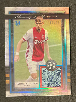 £14.15 • Buy 2020-21 Topps Museum UEFA Champions League Kenneth Taylor Jersey Patch /75 Ajax