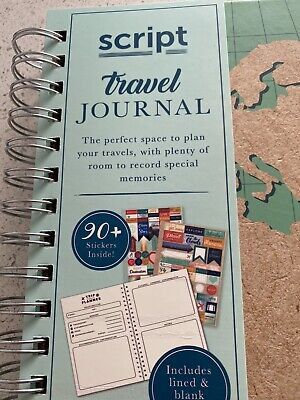 £5 • Buy Script Travel Journal Notebook Gift Brand New - Includes 90 Stickers