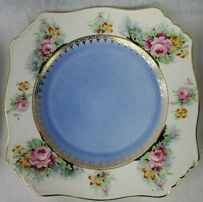 $ CDN499.97 • Buy Vintage Royal Winton Grimwades Set 8 Cake Plates Multi Color With Roses & Gold