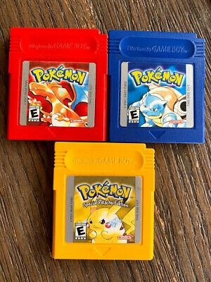 $199.97 • Buy Pokemon Yellow Red Blue (Lot Of 3) Authentic Nintendo GBA Games ALL 3 SAVE!