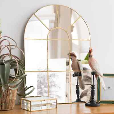 £69.99 • Buy Enchanted Gold Arched Window Mirror Large Gold Window Style Wall Mirror 80x60