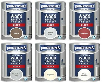 £15.97 • Buy Johnstone's Interior Wood & Metal Quick Dry Gloss Paint 750 ML All Colours