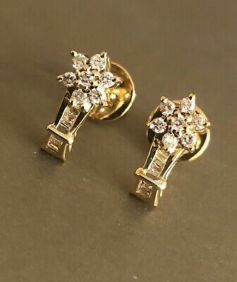 £379 • Buy 9ct Yellow Gold Diamond Earrings 0.40ct Daisy Cluster Flower Studs HM 375