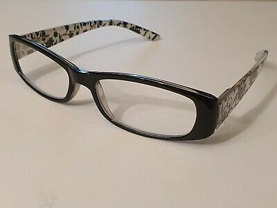 £3.99 • Buy FGX By Foster Grant - Laura Black & White - Reading Glasses - Sprung Hinges New