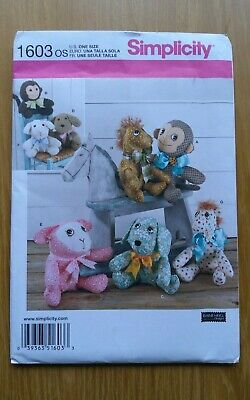 £5 • Buy   Simplicity 1603 Two Pattern Piece Animals Sewing Pattern Uncut