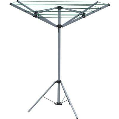 £24.99 • Buy Portable Rotary Clothes Dryer Camping 4 Arm 16m Foldable Compact With Tripod