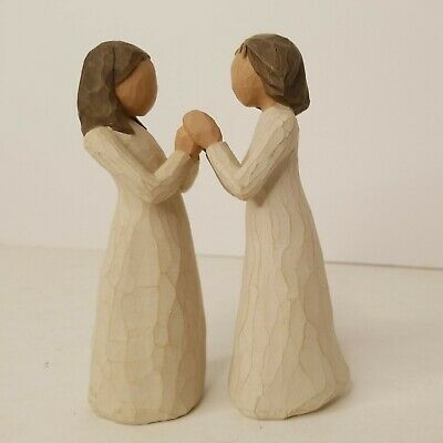 £21.90 • Buy Willow Tree Sisters By Heart Figurines Set Of 2 Holding Hands Susan Lordi 2000
