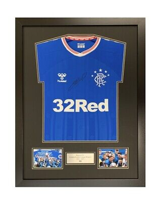 £49.99 • Buy Frame For Signed Rangers 55 Winners Shirt Double Mount With Plaque & Photo Slots