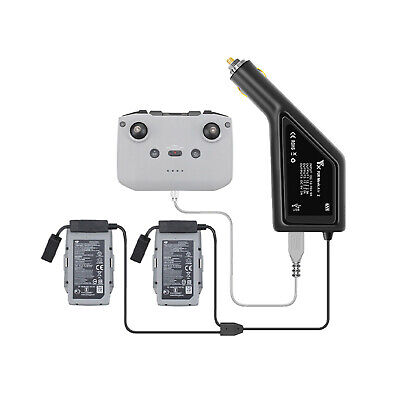AU35.25 • Buy 3in1 Car Charger For DJI Mavic AIR 2 Drone Battery & Remote Control Charging Hub