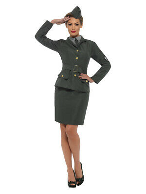 £19.99 • Buy WW2 Army Girl Costume Ladies 1940s Fancy Dress Soldier Uniform Womens Outfit