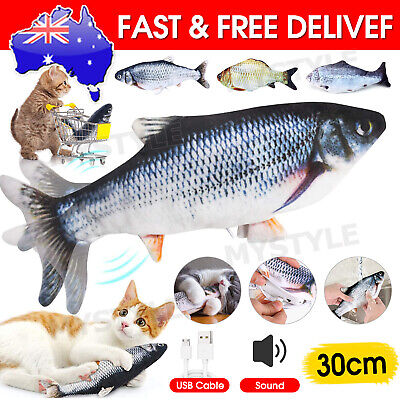 AU11.50 • Buy Electric Dancing Fish Kicker Cat Toy Wagging Realistic Moves USB Rechargeable AU