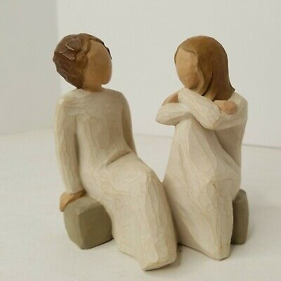 £19.36 • Buy Willow Tree Heart And Soul Figurine Friends Sisters Sitting Susan Lordi 2002