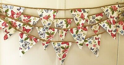 £15 • Buy Professionally Made Tea Party Butterfly Bunting. Extra Long. 550cm.