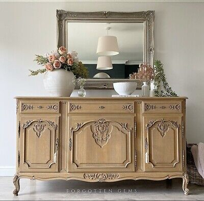 £1395 • Buy Large French Oak Carved Sideboard In Raw Finish