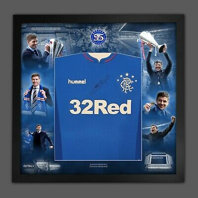 £299.99 • Buy Steven Gerrard Signed Rangers Fc Football Shirt In A Picture Mount Display