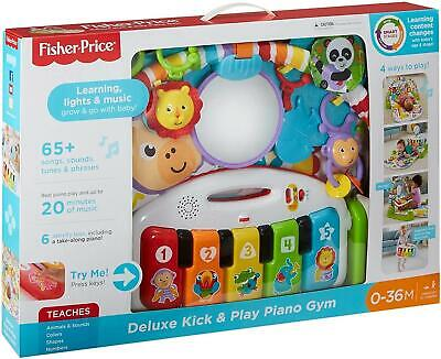 £40.99 • Buy Fisher Price Deluxe Kick & Play Baby Piano Gym Mat With Lights And Sounds