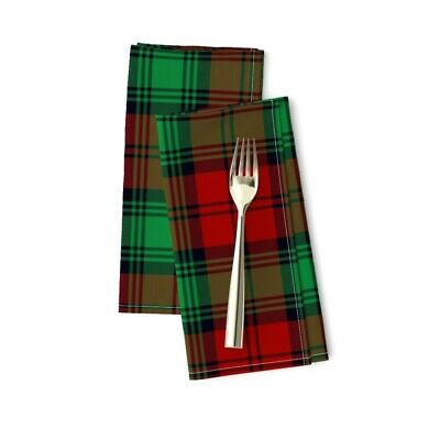 £20.53 • Buy Lindsay Tartan Plaid Scottish Cotton Dinner Napkins By Roostery Set Of 2