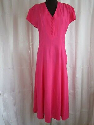 £16 • Buy Vintage Charlotte Halton Fit N Flare Pink Dress Size 12 New With Tags
