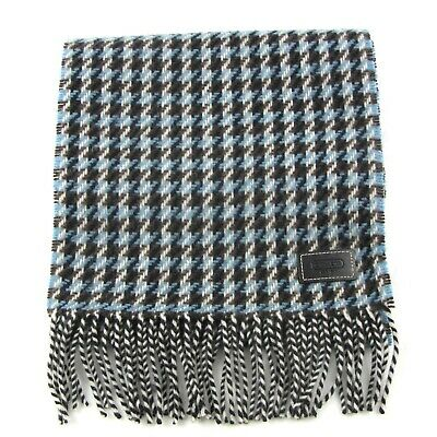 £31.86 • Buy Coach Houndstooth Rectangular Fringed Scarf Wool Cashmere Blend