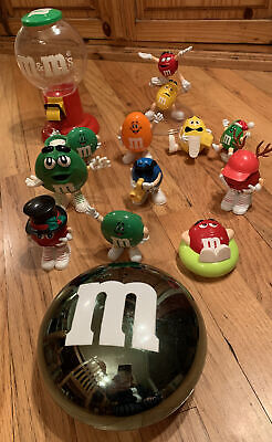 $29.89 • Buy M&M's Figurines Huge Lot Dispensers Containers Some Rare Collectibles 13 Pieces