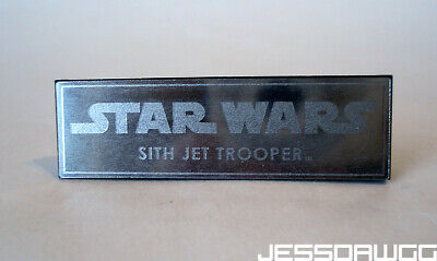 $ CDN7.29 • Buy Name Plate 1/6 Sith Jet Trooper Stand Base By Hot Toys Star Wars 12  Figure