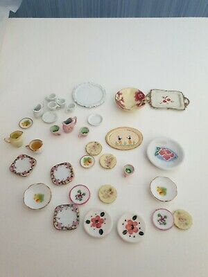 £6.50 • Buy Dolls House Plates And Cups Joblot Mixed