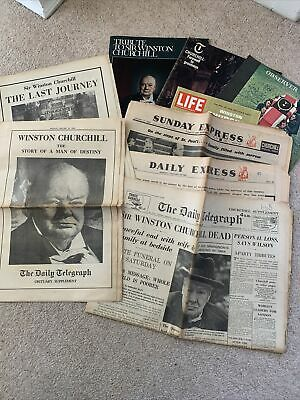 £8 • Buy Winston Churchill Newspapers From 1965