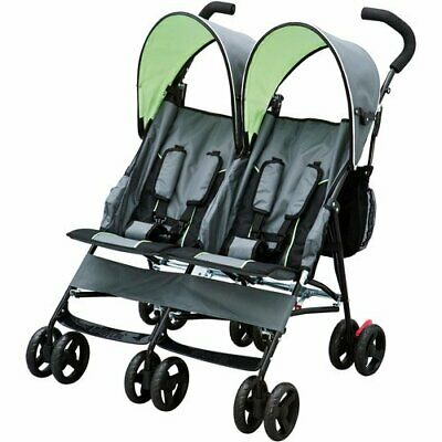AU159 • Buy Double Baby Stroller Twin Umbrella Folding Pushchair Infant Safety Travel Gray